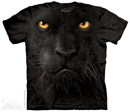 Black Panther Face - 10-3246 - Adult Tshirt