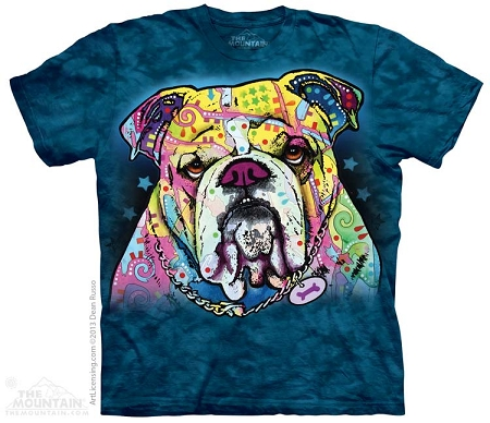 Colorful Bulldog - 10-3829 - Adult Tshirt