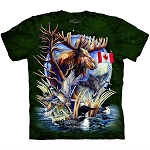 Canada Loon Collage - 10-6121 - Adult Tshirt