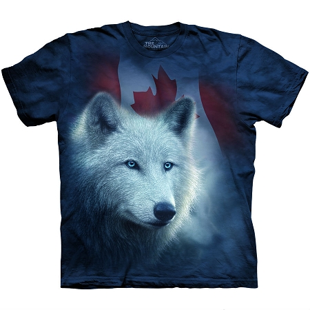 Canadian White Wolf - 10-6122 - Adult Tshirt