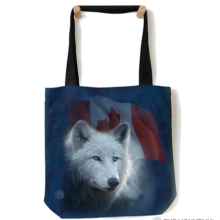 Canadian White Wolf - 97-6122 - Everyday Tote