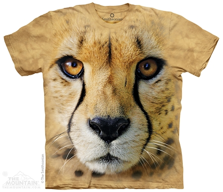 Big Face Cheetah - 43-7040 - Adult Tshirt