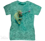 Climbing Chameleon - Ladies Fitted Tee