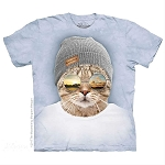 Cool Hipster Cat - 10-5948 - Adult Tshirt