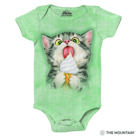 Creamy Cone Kitty - 89-5945 - Infant Onesie