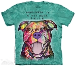 Happiness Is A Pit Bull Smile - 10-3919 - Adult Tshirt