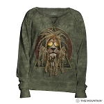 DJ Lion Retro - 74-5853 - Women's Slouchy Crew
