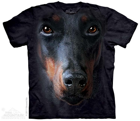 Doberman Portrait - 10-3256 - Adult Tshirt