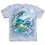 Dolphin Bubble - 15-5896 - Youth Tshirt