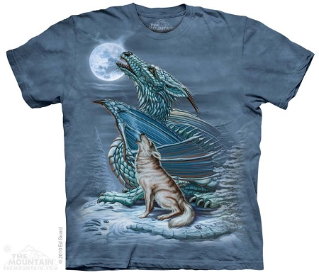 Dragon Wolf Moon - 10-3194 - Adult Tshirt