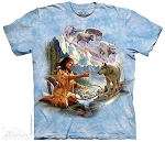 Dreams of Wolf Spirit - 10-1288 - Adult Tshirt - Native American