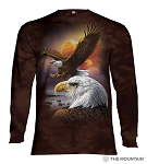 Eagle and Clouds - 45-3370 - Adult Long Sleeve T-shirt