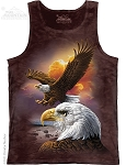 Eagle And Clouds - Adult Tank Top