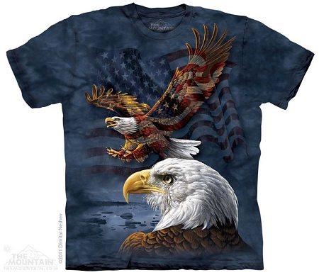 Eagle Flag Collage - 10-8207 - Adult Tshirt