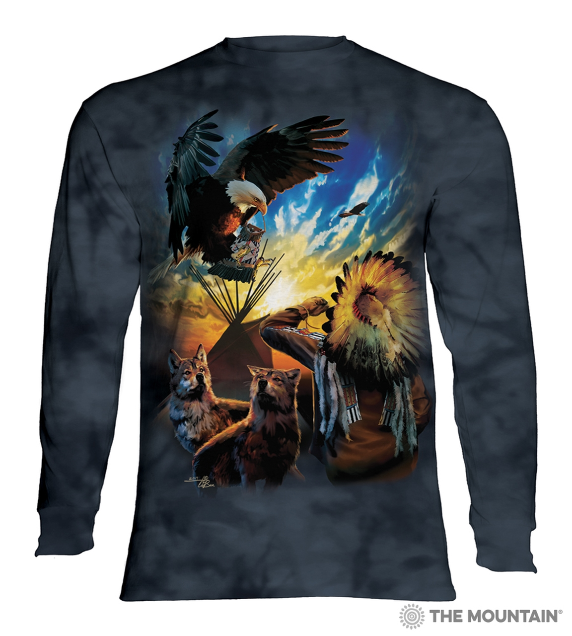 Eagle Prayer - 45-5957 - Adult Long Sleeve T-shirt