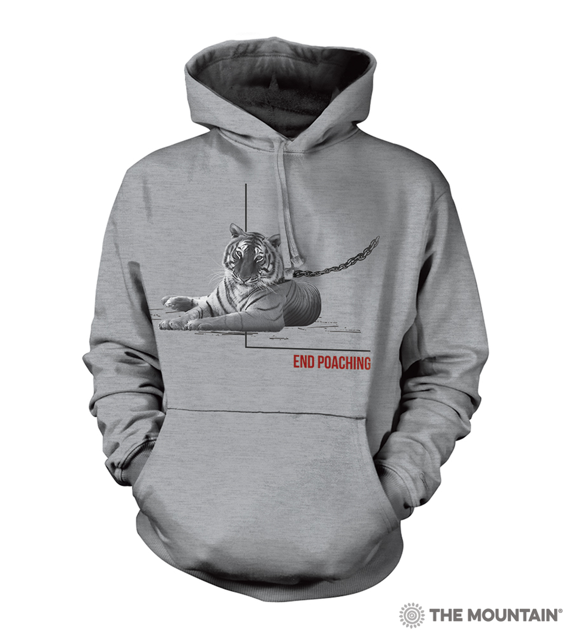 End Poaching Tiger - 72-5572 - Adult Hoodie