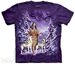 Wolf Eyes - 10-1320 - Adult Tshirt - Native American
