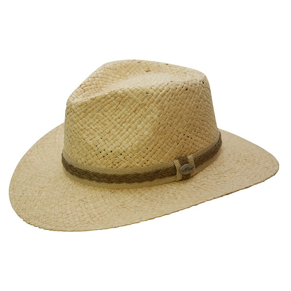 F5077-NAT Organic Raffia and Toyo Outback Hat