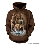 Find 10 Brown Bears - 72-3482 - Adult Hoodie