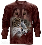 Find 9 Wolves - Adult Long Sleeve T-shirt