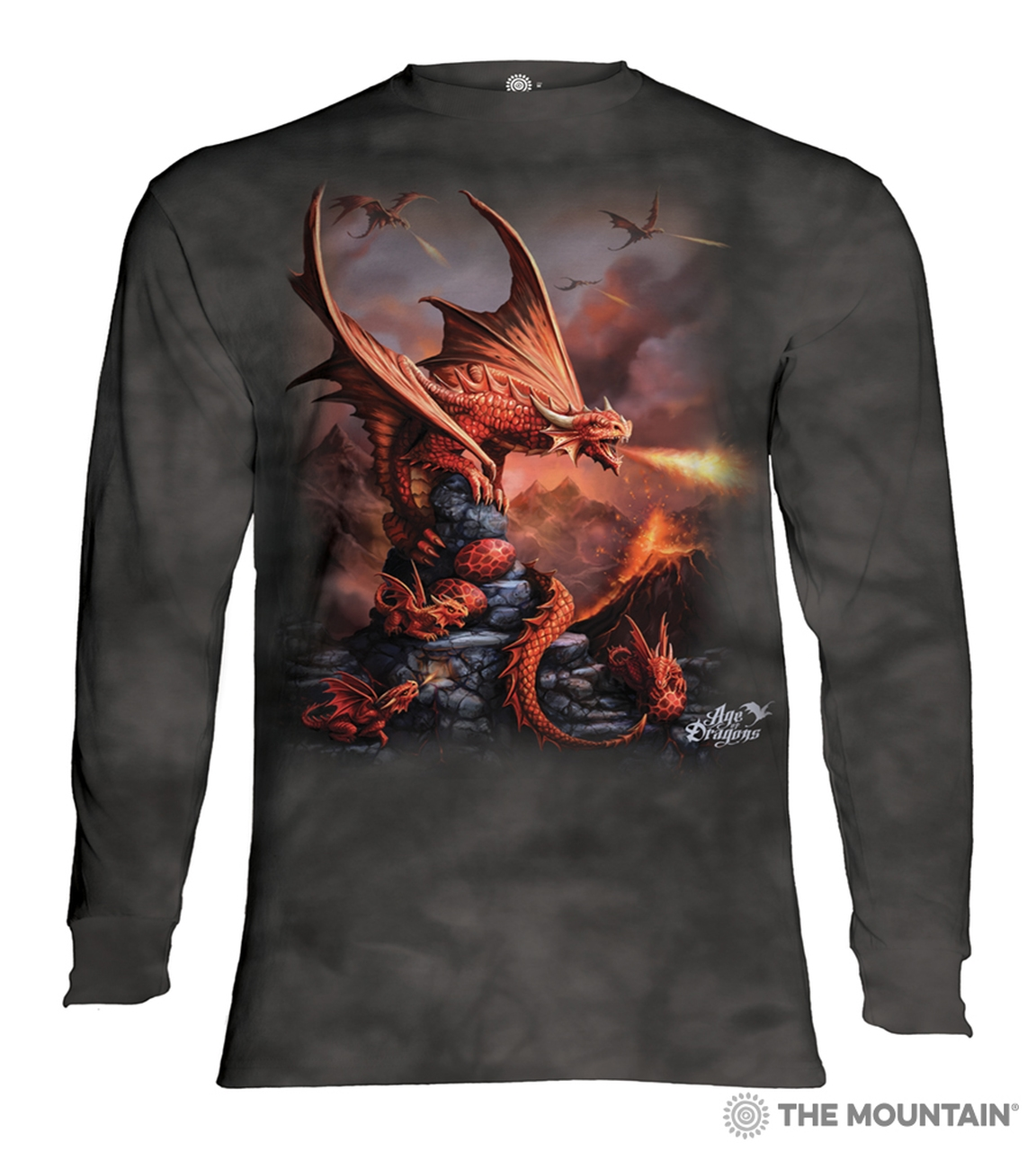 Fire Dragon - 45-5923 - Adult Long Sleeve T-shirt