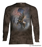 Flag Bearing Eagle - 45-5958 - Adult Long Sleeve T-shirt