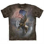 Flag Bearing Eagle - 15-5958 - Youth Tshirt