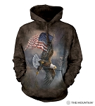 Flag-Bearing Eagle - 72-5958 - Adult Hoodie