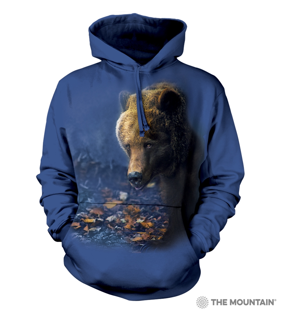 Foraging Grizzly Bear - 72-6166 - Adult Hoodie