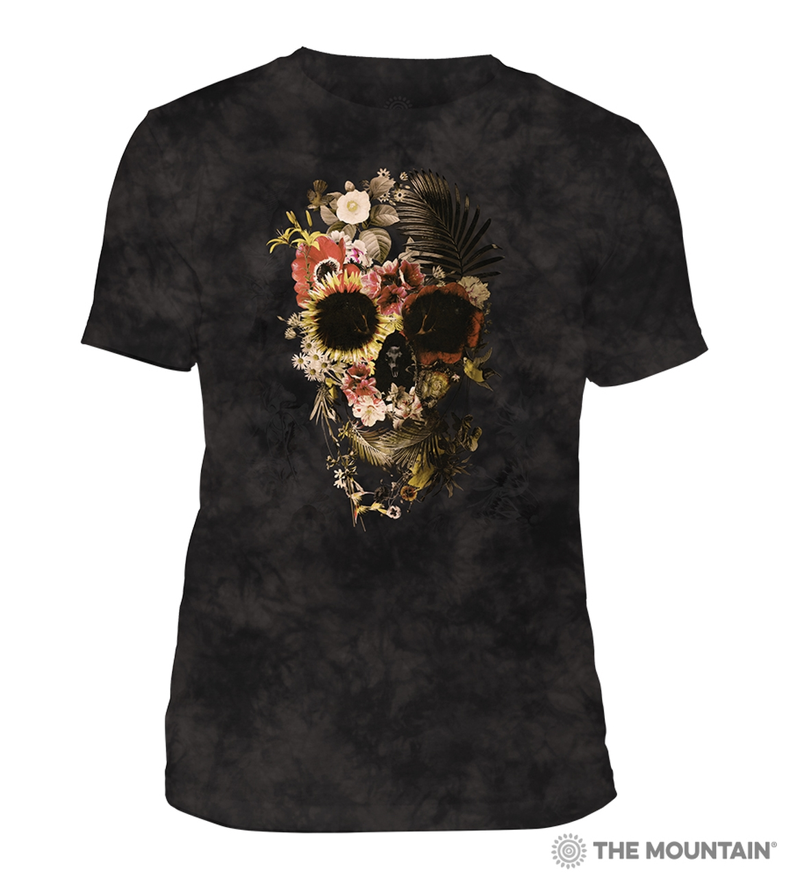 Garden Skull - Black - 54-6330 - Men's Triblend T-shirt