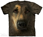 German Shepherd Portrait - 10-3445 - Adult Tshirt