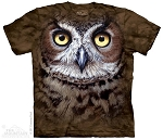 Great Horned Owl Head - 10-3447 - Adult Tshirt