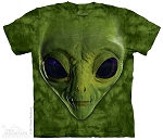 Green Alien Face - 10-3499 - Adult Tshirt
