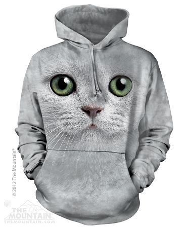 Green Eyed Cat - 72-3357- Adult Hoodie