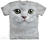 Green Eyes Face - 10-3357 - Adult Tshirt