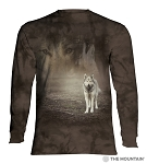 Grey Wolf Portrait - 45-5892 - Adult Long Sleeve T-shirt