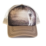 Grey Wolf Portrait - 76-5892 - Trucker Hat