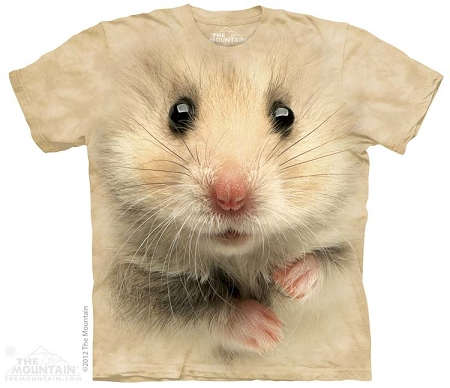Hamster Face - 10-3621 - Adult Tshirt