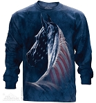 Patriotic Horse - Adult Long Sleeve T-shirt