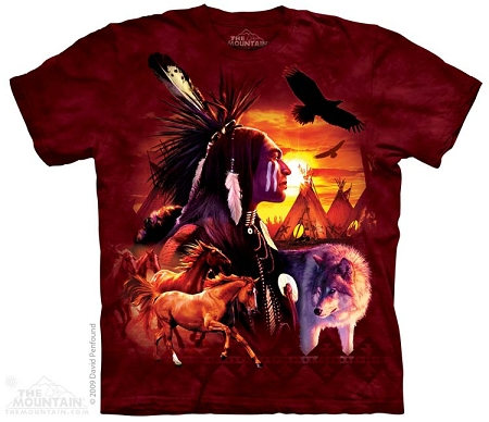 Indian Collage - 10-2257 - Adult Tshirt - Native American