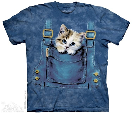 Kitten Overalls - 15-1016 - Youth Tshirt