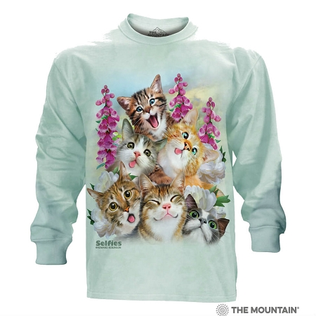 Kitten Selfie - 45-4988 - Adult Long Sleeve T-shirt