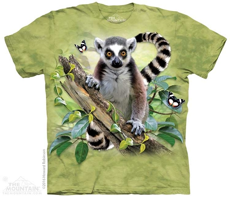 Lemur And Butterflies - 15-4846 - Youth Tshirt