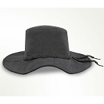 Minnetonka 9751 - Parker Floppy Hat - Grey Suede Leather