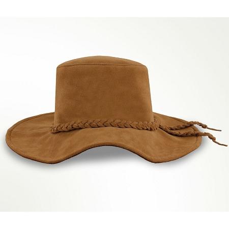 Minnetonka 9753 - Parker Floppy Hat - Dusty Brown Suede Leather 33e7b0c5c1b