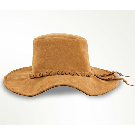 Minnetonka 9757 - Parker Floppy Hat - Tan Suede Leather