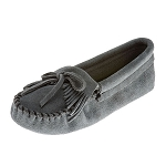 Minnetonka Moccasins 109 - Women's Kilty Softsole Moccasin - Storm Blue Suede