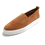 Minnetonka Moccasins 112 - Women's Gabi Slip-on Sneaker Moccasin - Brown Suede