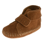 Minnetonka Moccasins 1122 - Infants Front Strap Bootie - Brown Suede