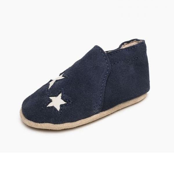 Minnetonka Moccasins 1193 - Infants Star Bootie - Navy Suede